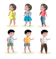 flat baby boy and girl fashion icon set vector image vector image