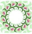 flat stile floral background vector image vector image