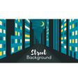 Flat style of night city street vector image