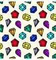 gems seamless pattern vector image
