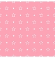 geometric pink seamless pattern Stars vector image