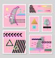 glitch futuristic posters covers set tropical vector image vector image