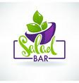 glossy symbol healthy cooking logo and organic vector image vector image