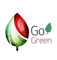 Go green nature concept vector image