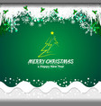 green background new year vector image