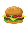 hamburger symbol icon design vector image
