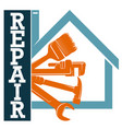 housing renovation symbol with tool vector image