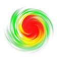 hurricane symbol with intensity on white vector image vector image