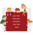 kids frame notice vector image vector image