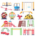 kids outdoor ladders carousel and swing vector image
