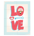 Love greeting card or poster design vector image vector image
