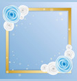 love greeting card with blue and white rose in vector image vector image