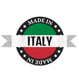 Made in Italy badge vector image vector image