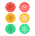 mandala in vintage round ornament pattern set vector image vector image