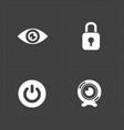 modern flat social icons set on dark background vector image vector image