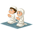 Muslims vector image