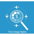 online search the airline tickets vector image vector image