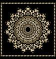 ornamental round mandala pattern floral ornate vector image vector image