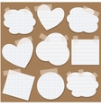Paper stickers with scotch tape vector image vector image
