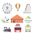 Park icons set in flat style vector image vector image