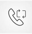 phone call icon sign symbol vector image vector image