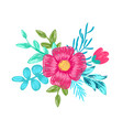 pink flower with branches on vector image vector image