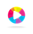Play button symbol Colorful bright design Easy vector image