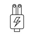 plug energy isolated icon vector image vector image