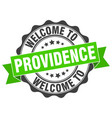 providence round ribbon seal vector image vector image