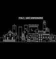 san gimignano silhouette skyline italy - san vector image vector image