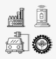 set electronics elements to use energy vector image vector image