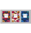 set of festive floral abstract vertical covers vector image vector image