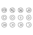 Sound multimedia icons vector image vector image