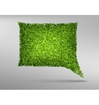 Speech Bubble natyre with grass vector image vector image