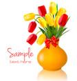spring flowers vase vector image vector image