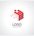 square box rubig technology logo vector image vector image