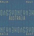 sydney australia seamless pattern vector image vector image