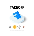 Takeoff icon in different style vector image vector image