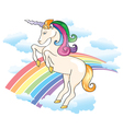 Unicorn Rainbow vector image vector image