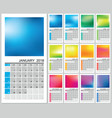 wall calendar for 2018 year vector image vector image