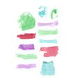 watercolor multicolor set vector image