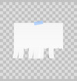 white advertisement tear-off paper template on vector image vector image