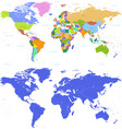 world map with vibrant colors vector image vector image