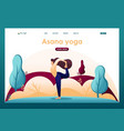 yoga outdoors in park flat 2d character vector image vector image