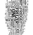 your frugal fridge text word cloud concept vector image vector image