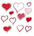 heart hand drawn vector image