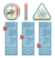 Thermometer and Snow Sign vector image