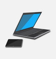 set laptop and tablet vector image