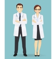 Male and female doctors isolated vector image