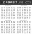 120 outline mini concept infographic symbol icons vector image vector image